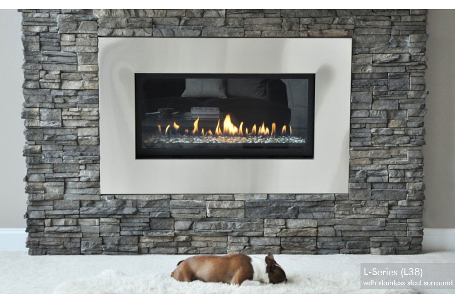 Stainless Steel Fireplace Surrounds Ideas